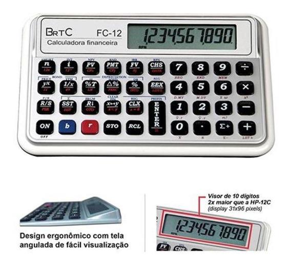 Calculadora Financeira Brtc Fc - 12 ( Idêntica Hp 12c )