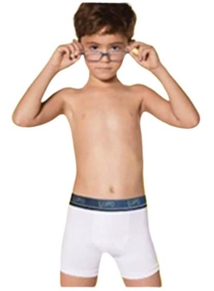 Kit C/ 6 Cuecas Boxer Infantil Algodão - Lupo - 141