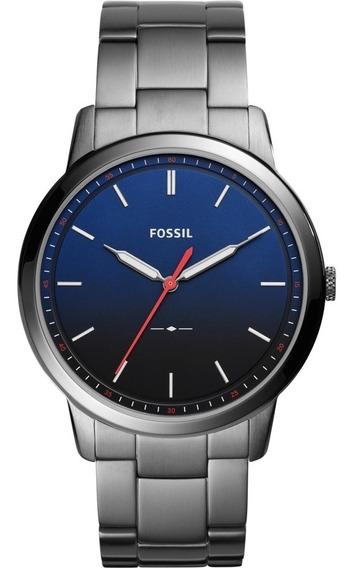 Fossil Mens Minimalist Watch Plata Nuevo Y Original Reloj