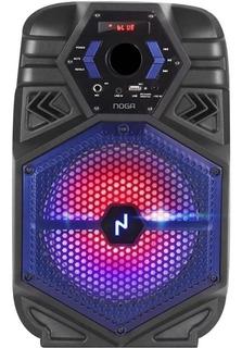 Parlante Portátil Inalámbrico Noga Bt800 Karaoke Led Rgb Bt