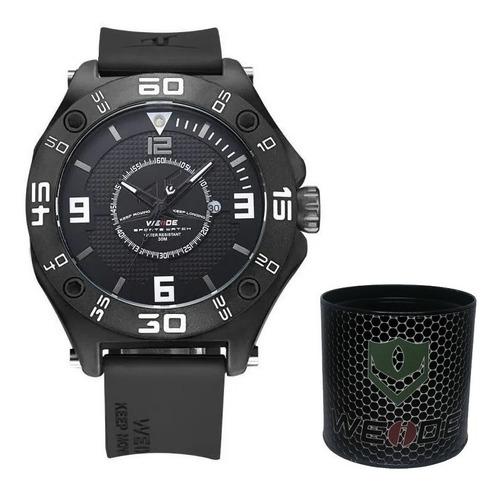 Relógio Weide Preto Original Analógico Luxo Barato Promoção