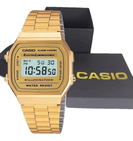 Relógio Casio Moda Vintage Original Ouro Grande Com Garantia