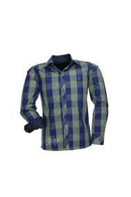 Camisa Infantil Alfa Tecido Algodão Xadrez - Verde - 187