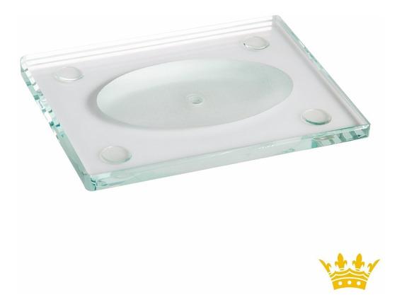 Saboneteira Retangular De Mesa Box 609