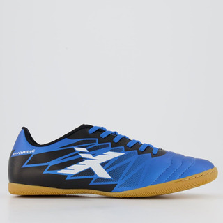 Chuteira Oxn Dynamic Futsal Azul E Preta