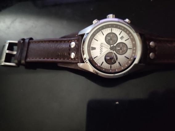 Relógio Masculino Fossil Coachman Couro Marrom
