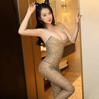Lencería Mujer Panty - Catsuit / Leopardo / Talla Única