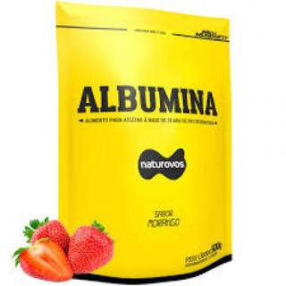 albumina Morango Naturovos 500g