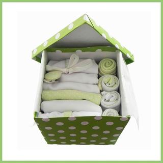 Caja Nº4 Ajuar Bebé Nacimiento Algodón Set 13 Piezas Cloe