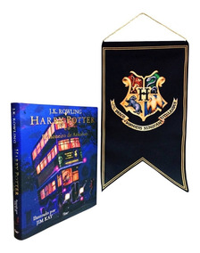 Livro Harry Potter Prisioneiro De Azkaban Ilustra + Bandeira