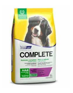 Vitalcan Complete Adulto Med/gde Carne X 20 Kg