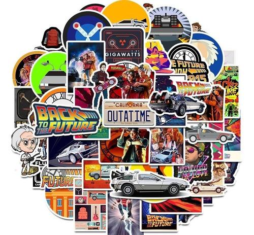 50 Stickers Volver Al Futuro Marty Mcfly Doc Browm Pegatinas