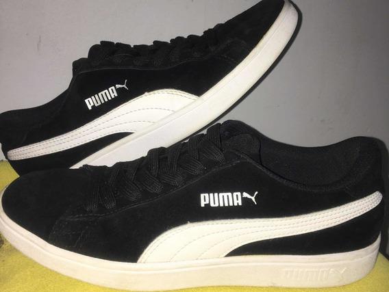 Tênis Puma Smash V2 - Preto E Branco