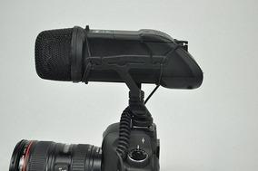 Microfone Estéreo Boya By-v03 Para Câmeras Dslr Boya