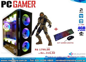 Computador Pc Gamer Amd A6-7480 4gb/500gb/vga2gb/500w 981371