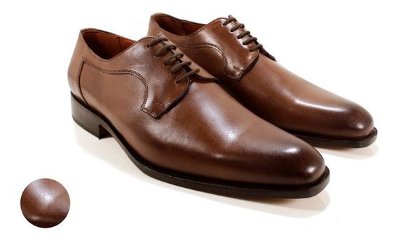 Zapato Hombre Cuero Color Marrón Diseño Piero By Ghilardi.