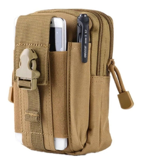 Pouch Bolso Tactico Airsoft Militar Celular Billetera Docum.