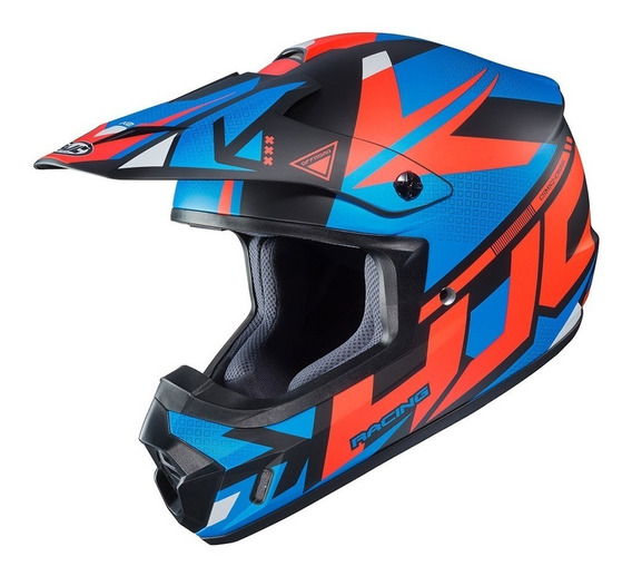 Casco Cross Hjc Cs-mx Ii Madax Mc26sf Azul/rojo