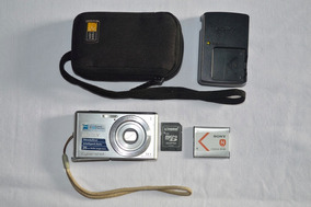 Câmera Sony Cyber-shot W530 Prata 14.1mp + Memory Card 4gb