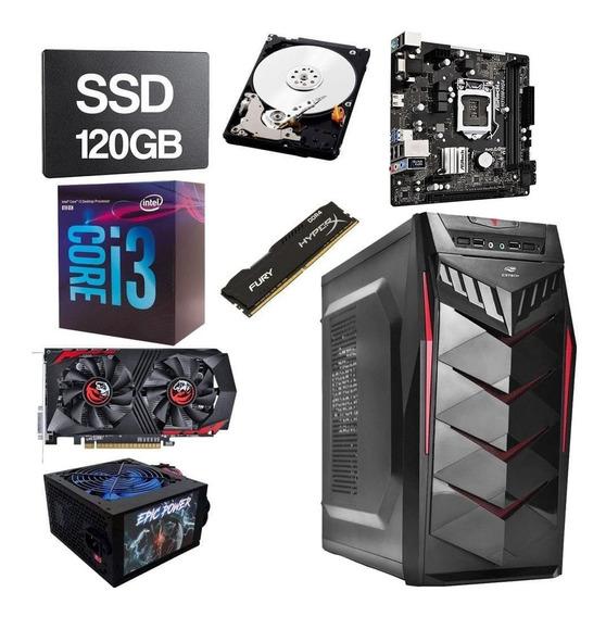 Cpu Gamer Intel Core I3 8100 3.6 8gb Ddr4 120gb Hd 1tb 2gb
