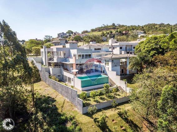 Casa Com 6 Dormitórios À Venda, 743 M² Por R$ 3.300.000,00 - Condominio Porto Atibaia - Atibaia/sp - Ca5220