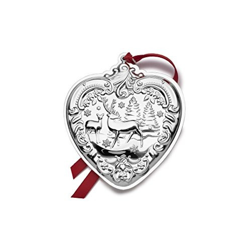 Plata De Ley Wallace 2017grand Barroco Corazón De Ornament