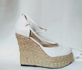 9df6e5b53 Sandalia Anabela Duas Tiras Branca - Sapatos no Mercado Livre Brasil