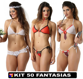 Lingerie Atacado Frete Gratis Sexshop Kit Com 50 Uni Sexy