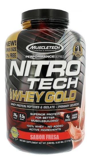 Proteína Muscletech Nitrotech Whey Gold 5.5 Lbs