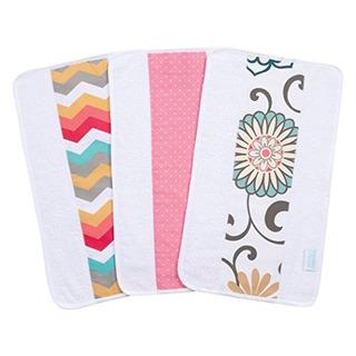 Trend Lab Waverly Pom Pom Play 3 Piezas Jumbo Burp Cloth Set