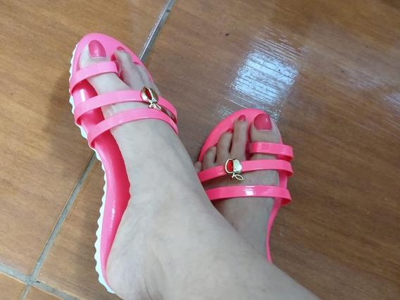 Sandalia Rasteirinha Sapato Feminino Barato Nova 34