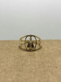 Anel Em Ouro 18k Formato Nossa Senhora Aparecida, Aro 19