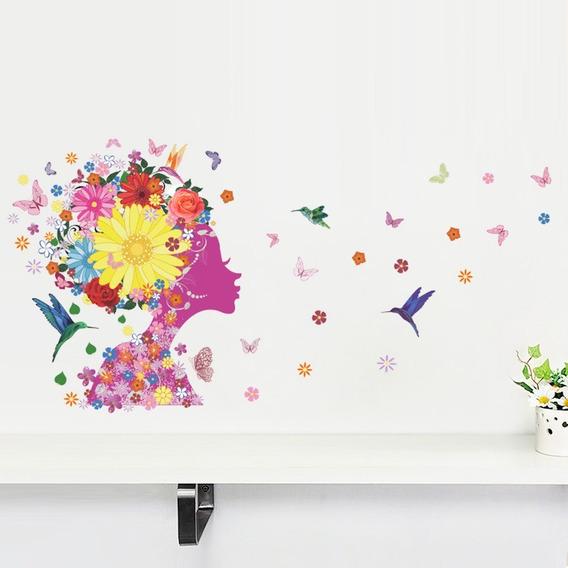 Adesivos Decorativos De Parede Floral Borboletas Coloridos