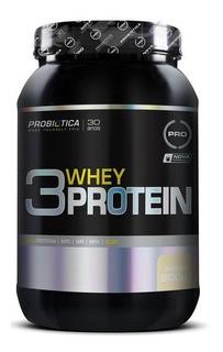 3 Whey Protein 900g Baunilha Probiótica