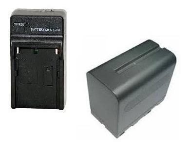 Kit Bateria Np-f970 (6 Horas)+ Carregador P/ Iluminador Led