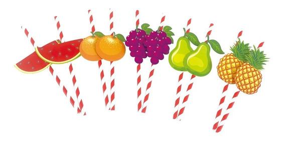 Sorbetes De Polipapel Decorado Frutas X 10 Unidades