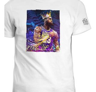 Camisetas Estampada Lebron James Lakers Basketball Ink 2