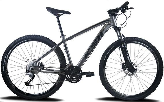 Bicicleta Aro 29 Ksw 27v Hidraulico Shimano - Acera 9v Trava