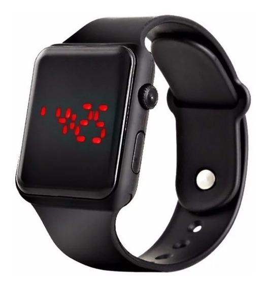 Relógio De Pulso Casual Digital Led Cagarny Unissex Moderno
