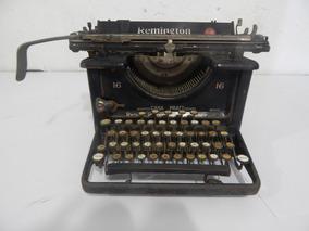 Antiga Maquina De Escrever Remington 16 Made In Usa