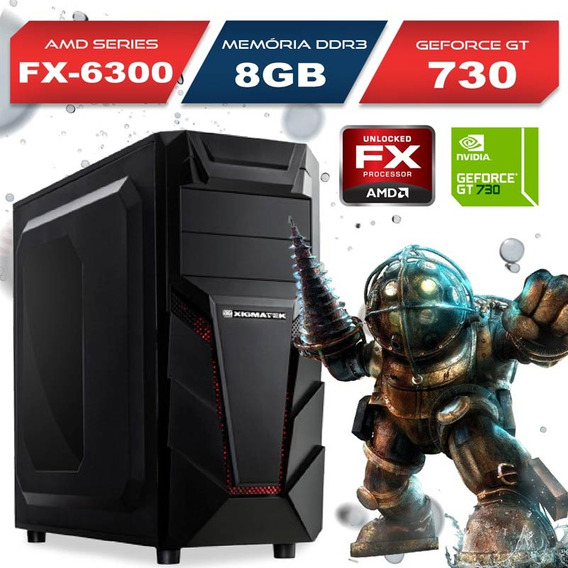 Computador Gamer Amd Fx 6300, Gt 730, 8gb, 500gb