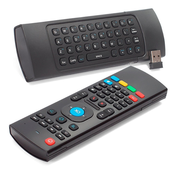 Controle Air Mouse Teclado Smart Tv Pc Mx-3 Sensor Movimento