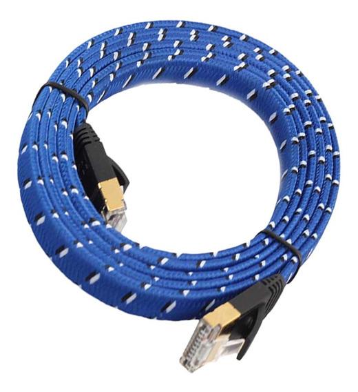 5 M 16ft Cat7 Ethernet Rede Cabo Blindado Banhado Ouro 10 Gb