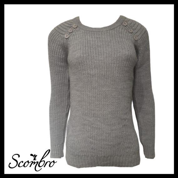 Sweater Scombro Modelo: Bot/ Hombro Cue. Red. Cod:2098