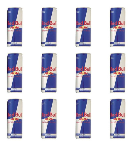Red Bull Energético Lata Regular 250ml (kit C/12)