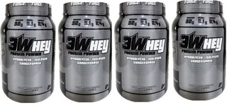 Combo 4 X Whey Protein Isolado 3w 907g Force Up Way Proten