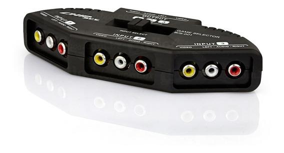 Chave Seletora Áudio E Vídeo 3 Para 1 - Com Cabo