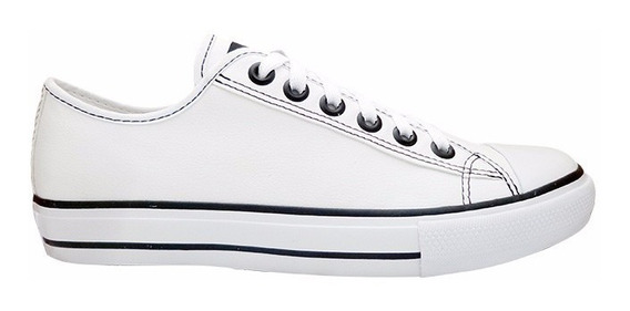 Tênis Converse All Star Couro Sintético Branco