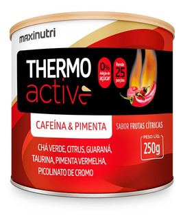 Thermo Active Termogenico 250g Frutas Citricas - Maxinutri