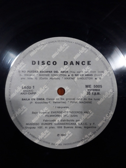 Disco Dance Lp Varios